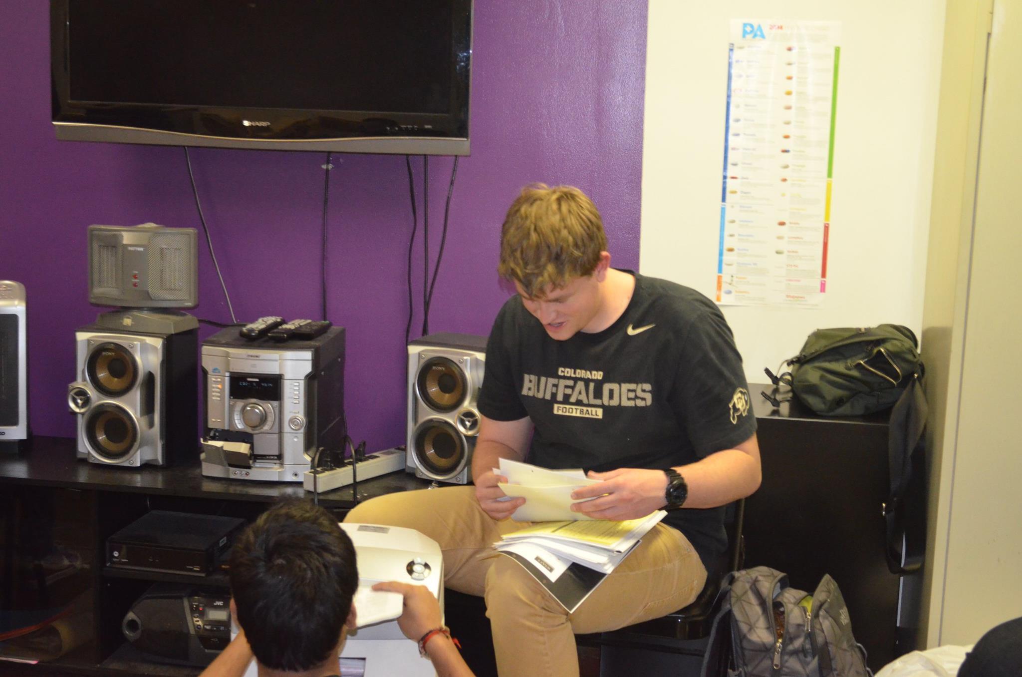 University of Colorado, Denver Students Working Hard