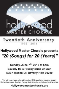 Hollywood Master Chorale Concert