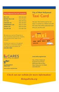 Weho Taxi Card