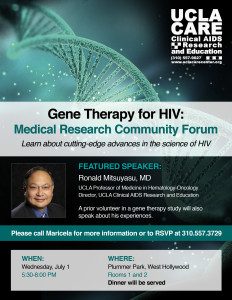 Gene Therapy for HIV Flyer