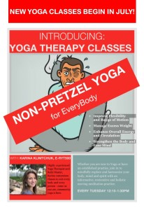 Yoga Therapy Class Advertisement