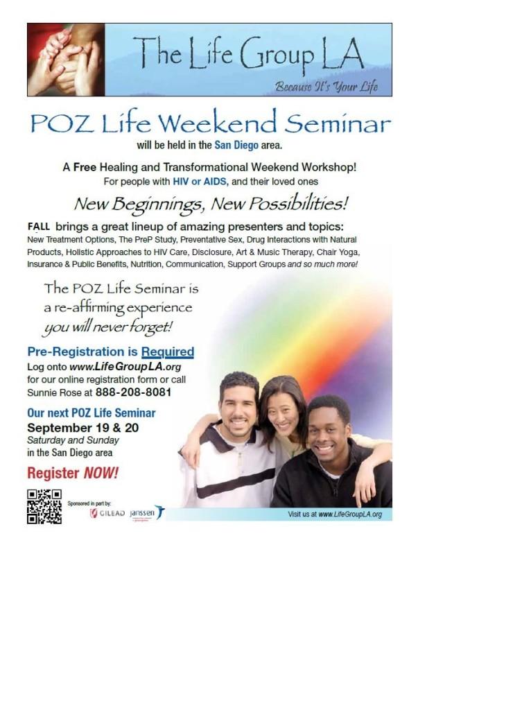 Poz Life Seminar Flyer