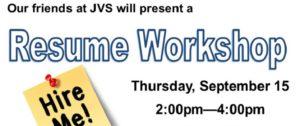 JVS Resume Workshop